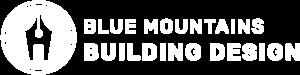 Blue Mountains Building Design Logo White